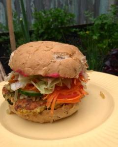 Zucchini-Lentil Veggie Burger